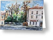 W 24 Moscow Greeting Card by Dogan Soysal