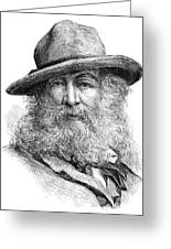 Walt Whitman (1819-1892) Greeting Card by Granger
