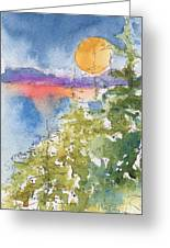 Waskesiu Sunset Greeting Card by Pat Katz