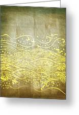 Water Pattern On Old Paper Greeting Card by Setsiri Silapasuwanchai