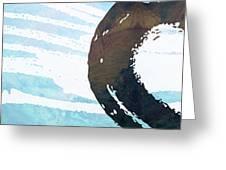 Water Stone Greeting Card by Nomi Elboim