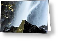 Waterfall In Auvergne Greeting Card by Bernard Jaubert