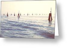 Waterway In The Lagoon Of Venice Greeting Card by Joana Kruse