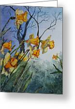Welcome Springtime Greeting Card by Patsy Sharpe