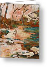 West Fork Greeting Card by Sandy Tracey