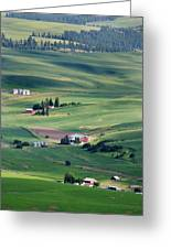Wheatfields In Rural Washington State Greeting Card by Carl Purcell