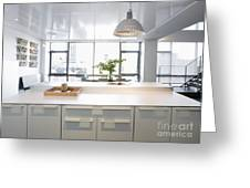 White Counters And Dining Area Greeting Card by Andersen Ross