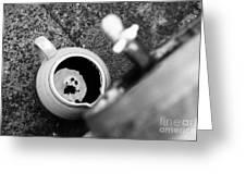 Wine Dripping Greeting Card by Gaspar Avila