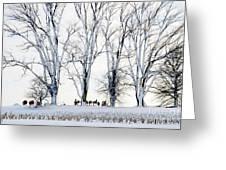Winter Calm Greeting Card by Christine Belt