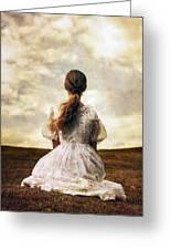 Woman On A Meadow Greeting Card by Joana Kruse