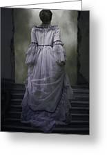 Woman On Steps Greeting Card by Joana Kruse