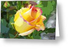 Yellow Rose Greeting Card by Anne Mott