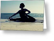 Yoga Greeting Card by Stylianos Kleanthous