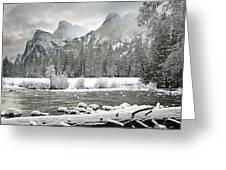 Yosemite National Park, California, Usa Greeting Card by Robert Brown