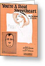 You're A Real Sweetheart Greeting Card by Mel Thompson
