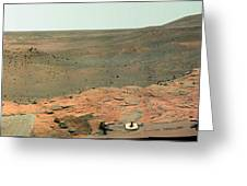 Panoramic View Of Mars Greeting Card by Stocktrek Images