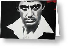 - Scarface - Greeting Card by Luis Ludzska