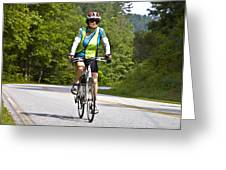 Bicycle Ride Across Georgia Greeting Card by Susan Leggett
