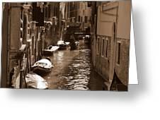 Venice Greeting Card by Barbara Walsh