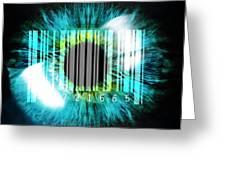 Biometric Eye Scan Greeting Card by Pasieka