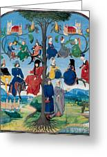 15th-century Family Tree Greeting Card by Photo Researchers