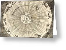 1731 Johann Scheuchzer Planet Orbit Greeting Card by Paul D Stewart