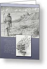 178 Moses And The Burning Bush Greeting Card by James Robinson