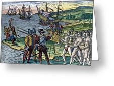 Christopher Columbus Greeting Card by Granger