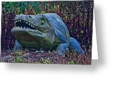 Dinosaur Greeting Card by Dawn OConnor