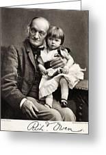 1880's Sir Richard Owen And Grandaughter Greeting Card by Paul D Stewart