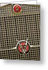 1930 Cadillac 452 Fleetwood Grille Emblem Greeting Card by Jill Reger