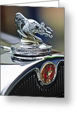 1931 American Austin Roadster Hood Ornament Greeting Card by Jill Reger
