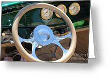 1932 Ford Roadster Steering Wheel And Guages . 5d16176 Greeting Card by Wingsdomain Art and Photography