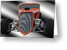 1933 Ford Roadster - Hotrod Version Of Scream Greeting Card by Betty Northcutt