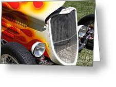 1933 Ford Roadster With Flames . 5d16237 Greeting Card by Wingsdomain Art and Photography
