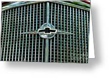 1934 Chevrolet Grill  Greeting Card by Paul Ward