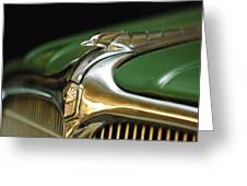 1934 Nash Ambassador 8 Hood Ornament Greeting Card by Jill Reger
