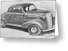 1937 Chevy Greeting Card by Kume Bryant
