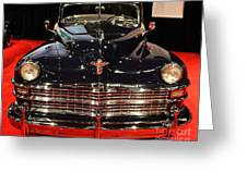 1941 Cadillac Series 62 Convertible Coupe . Front View Greeting Card by Wingsdomain Art and Photography