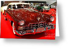 1947 Red Cadillac Convertible . 7d9220 Greeting Card by Wingsdomain Art and Photography