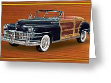1948 Chrysler Town And Country Greeting Card by Jack Pumphrey