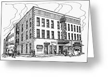 1950 Grand Central Hotel Brockville Greeting Card by John Cullen