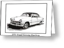 1951 Ford Victoria Hardtop Greeting Card by Jack Pumphrey