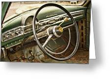 1951 Nash Ambassador Interior Greeting Card by James BO  Insogna