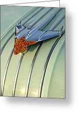1954 Pontiac Chieftain Hood Ornament Greeting Card by Gordon Dean II