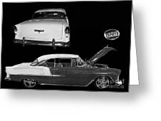1955 Chevy Bel Air 2 Door Hard Top Greeting Card by Tim Mulina