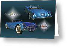 1955 Corvette - 68 Of 700 Built Greeting Card by Mike  Capone