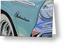1955 Plymouth Belvedere Emblem Greeting Card by Jill Reger