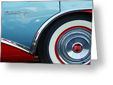 1956 Buick Century Wheel Greeting Card by Jill Reger