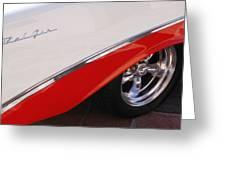 1956 Chevrolet Belair Convertible Wheel Greeting Card by Jill Reger